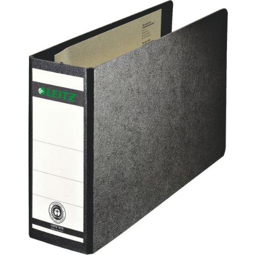 Leitz kwaliteitsordner voor speciale formaten, hard karton (RC) met wolkenmarmer-koffer, zwart A5 liggend Breit zwart