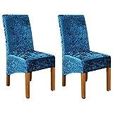 Fundas para sillas de Comedor Fundas elásticas para sillas de Comedor, Fundas de Terciopelo triturado para sillas, Fundas elásticas Protectoras para sillas, para Comedor, Lavables para Hotel, Banquet