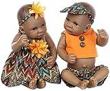 ZXYMUU Reborn Baby Muñecas de Silicona Reborn Baby 11 Pulgadas 28 cm Mini Negro Lindo Lindo Realista...