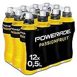 Powerade Sports Passionfruit, Iso Drink mit Elektrolyten - als erfrischendes, kalorienarmes Sportgetränk oder als Power Drink für zwischendurch, EINWEG Flasche (12 x 500 ml)