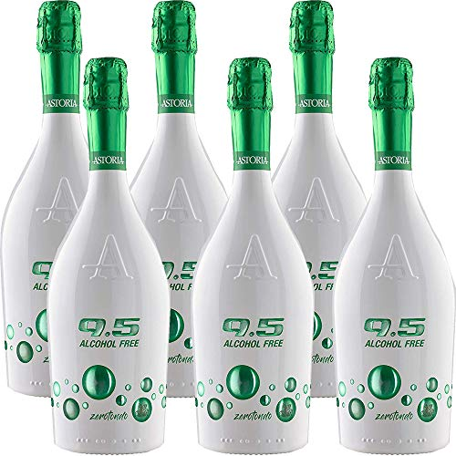 Spumante Analcolico | Astoria Zerotondo | Alcol Free | Bevanda a Base di Succo dUva Bio | 6 Bottiglie da 75 Cl | Idea Regalo