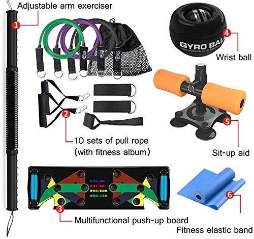 Regalos deportivos Ideas Equipo de gimnasio Kit de resistencia de la parte superior del cuerpo Entrenamiento de fuerza Abdomen Cintura Brazo Estiramiento de la pierna Entrenamiento para adelgazar