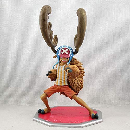 DMCMX Einteilige Figur Tony Tony Chopper Hupe Stärkung Form Anime Game Charakter Modell Statische Charakter Desktop Dekoration ca. 23 cm in höhe Chassis Room Decoration
