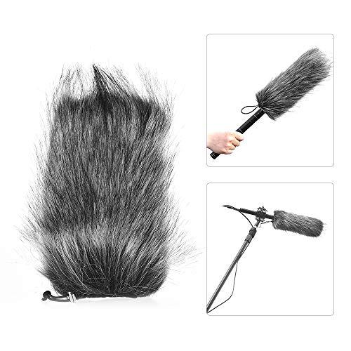 Andoer Microfone Profissional Universal Pára-brisas Furry Flexível Monte Fur Windshield para Rode VMGO Vídeo Mic GO, VideoMic Pro, Micro para SGC-598 598 compatível com Sony EMC965 NV1 XM1 CG60, ect