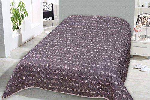 Home Edition XXL Tagesdecke wattiert & gesteppt 240x220cm Sofaüberwurf Steppdecke Bettüberwurf Dream a Little
