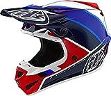 Troy Lee Designs 2020 TLD SE4 - Casco de poliacrillito para hombre adulto MX Motocross Off-Road, Coche y motocicleta, color rojo/azul, tamaño Large