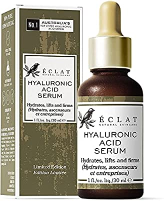 Hyaluronic Acid Serum - 8X More Powerful Anti-Ageing Serum with 2% HA + 10 Antioxidants - Hydrates/Firms/Plumps - 100% Vegan & Dermatologist Developed from Eclat Skincare