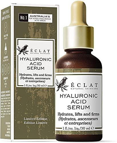 Hyaluronsäure-Serum – 8 Mal Wirksameres Anti-Ageing-Serum mit 2% HA + 10 Antioxidantien – Hydratisierend/Festigend - 100% VEGAN/Von Dermatologen Empfohlen