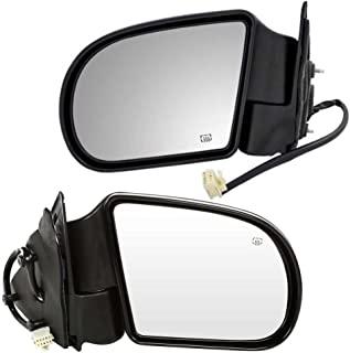 AutoShack KAPTO1320207PR Pair of 2 Left Driver and Right Passenger Power Paint to Match Smooth Non-Heated Non-Folding Side View Mirrors Replacement for 2003-2008 Pontiac Vibe Toyota Matrix 1.8L