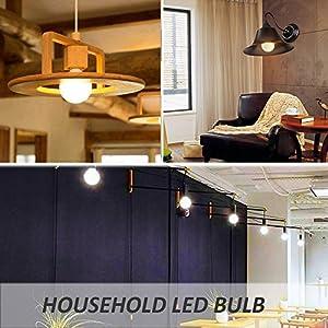 Ustellar 6 Pack 5W G25 E26 LED Bulbs, 40W Incandescent Bulb Equivalent, 450lm Vanity Light Bulbs, 270 Beam Angle, Globe Light Bulbs, Makeup LED Light Bulbs, Non-Dimmable, 2700K Warm White