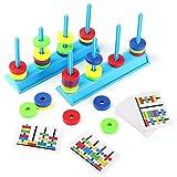 Juegos Montessori,Juguetes Educativos Para Niños, Juguetes Magnéticos, Entrenar las Manos y la Vista de los Niños, Mejorar la Concentración y la Memoria, un Regalo de Juego Perfecto
