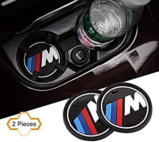 S-WEKA 2PCS M Line Car Interior Accessories Anti Slip Cup Mat for BMW 1 3 5 7 Series F30 F35 320li 316i X1 X3 X4 X5 X6 (2.9