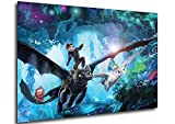 Instabuy Poster Cartel de pelicula - Cómo Entrenar a tu dragón 3 (Cartel 70x50) (Variant)
