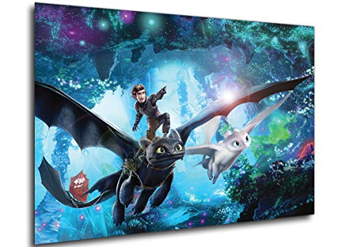 Instabuy Poster How to Train Your Dragon: The Hidden World (Drachenzähmen leicht gemacht 3 Die geheime Welt) Variant - Theaterplakat (Plakat 70x50)