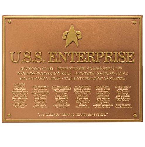 Filmwelt Shop Star Trek U.S.S. Enterprise NCC-1701-E Dedication Plaque - Official Starships Collection