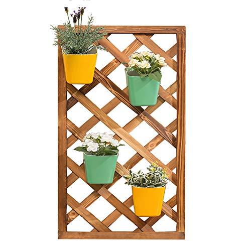 Z·Bling Pflanze Blume Stand An der Wand montiert Bonsai Anzeige Regal Holz Kletterwand Schwimmende Regale Wohnzimmer Pflanzenhänger Dekorativ Balkon Orchidee-grüner Rettich-Gestell