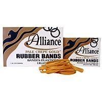 アライアンス20195ペールクレープゴールドラバーBands-サイズ19インチ3-1 / 2×1 / 16- 1ポンドボックス