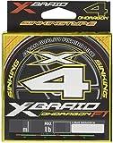 よつあみ エックスブレイド(X-Braid) オードラゴン X4 SS1.40 150m 2号 28lb ウグイスグリーン 1m毎 15cm ウメレッドマーク
