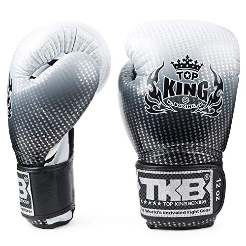 KINGTOP Top King Super Star Air - Guantes de Boxeo, Color Plateado y Negro