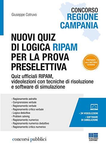 Concorso Regione Campania. Nuovi quiz di logica RIPAM per la prova preselettiva.