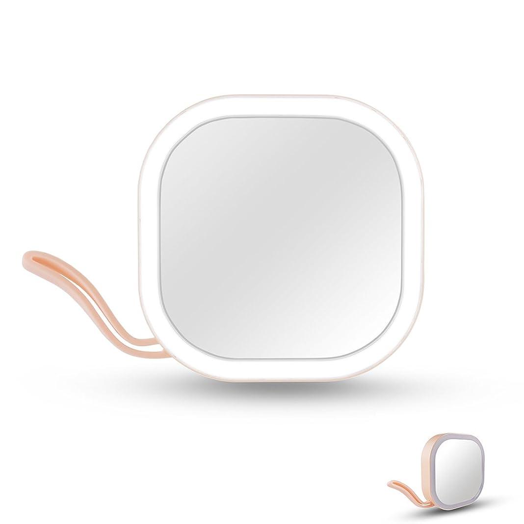 下着観点カメラIchic LEDミラー 化粧鏡 メイクミラー 携帯用ミラー 手鏡 コンパクト 持運び便利 USB充電
