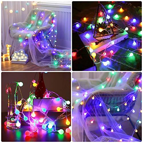 Lepro 100er LED Kugel Lichterkette Bunt 13M, Partybeleuchtung Außen mit Stecker, 8 Modi und Merk Funktion, ideale Partylichterkette für Innen, Hochzeit, Party Deko usw. Mehrfarbig - 5