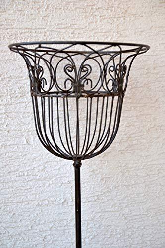 Gartenstecker mit Korb 140 cm-, stabile Ausführung- nutzbar für Pflanzen, Kerzen , Brenngel,