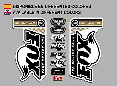 Ecoshirt 04-JNSV-22TO Aufkleber Fox Fork Evolution Fdp20 Stickers Aufkleber Decals Autocollants Adesivi, Gold