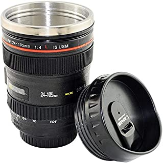 Camera Lens Shape Stainless Steel Cup Coffee Tea Travel Hot Drinks Mug Thermos And Biscuit Tray
