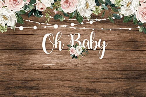 Cheap mail order sales OERJU 14x10ft Rustic Wood Baby Oh Shower Flo Party 2021 new Backdrop