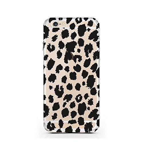 Funda Fanty compatible con iPhone 6 Plus/6S Plus, diseño de leo, transparente, protección completa
