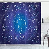 MEASUREMENTS - 70 INCHES LONG x 69 INCHES WIDE. No liner needed. 12 hooks included. MADE IN TURKEY. MADE FROM - High quality %100 polyester Turkish fabric material. Waterproof. Non-vinyl, Non-PEVA. EASY TO USE - Machine washable and dries fast. Featu...