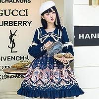 ロリータ ロリィタ ゴスロリスカート 星を探るOP エレガントな宮殿スタイル洋服ドレス