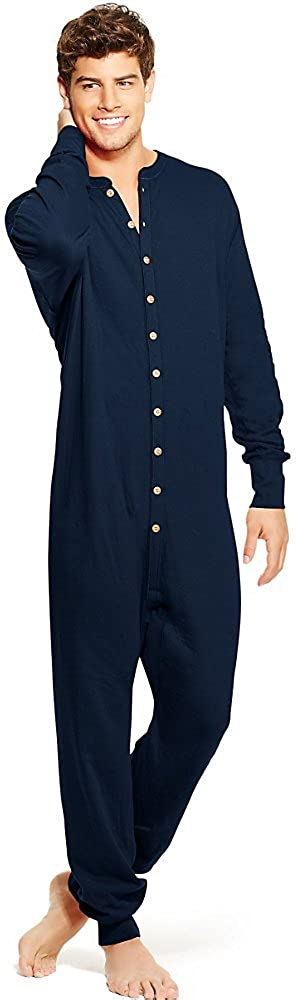 Champion Duofold by Men's Full Button Front Base Layer Union Suit