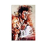 QIFJ Sylvester Stallone Rocky Leinwand Kunst Poster und