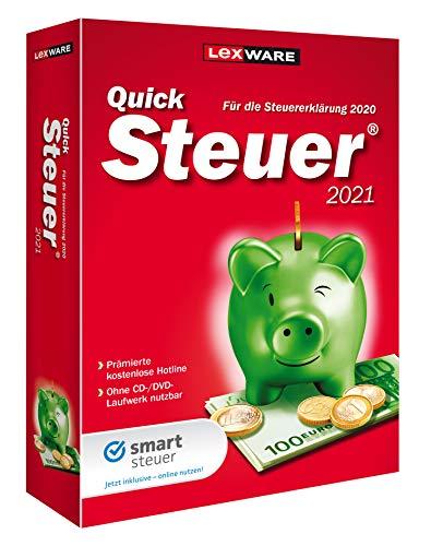 Lexware QuickSteuer 2021 für das Steuerjahr 2020|Minibox|Einfache und schnelle Steuererklärungs-Software für Arbeitnehmer, Familien, Vermieter, Studenten und Rentner|Standard|1|1 Jahr|PC|Disc