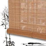 QIANDA Estores De Bambú Persianas Venecianas Enrollable Cortina Instalación De Ganchos Jardín Patio Galería Balcón 55cm / 65cm / 115cm / 125cm Amplio (Color : B, Size : 70cmX160cm)