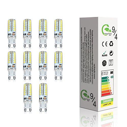 ELINKUME 10er-Pack 4W led lampen G9 LED 320LM Leuchtmittel 48 * 2835 SMD LEDs warmweiß lampen Lampe AC220-240V