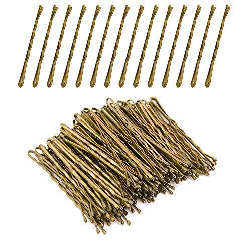 Homo Trends 300 piezas de agarraderas para el pelo, rubio de 1.97 pulgadas, pasador de pelo ondulado, para niñas y mujeres