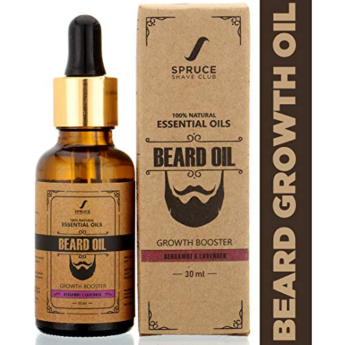 Spruce Shave Club Beard Oil For Men | 100% Natural Beard Growth Oil | Made with Pure Essential Oils