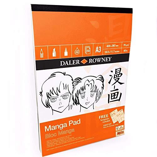 Daler Rowney DR435270300 Lot de 50 feuilles de manga 70 g/m² Format A3