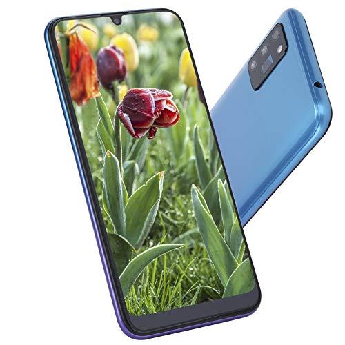 6.26 Pulgadas Smartphones Desbloqueados, Teléfono con Pantalla HD con Auricular y Funda Protectora, Reconocimiento Facial Smartphone De Doble Tarjeta y Doble Modo De Espera(púrpura)