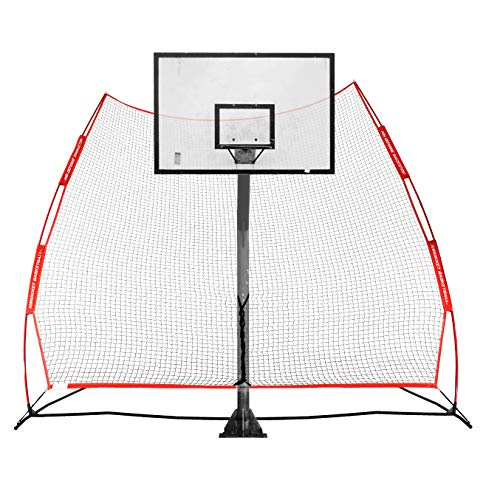 Rukket Basketball Return Net Guard and Backstop, Hoop Rebound Back Netting Attachment for Yard, Home & Residential Use, Barrier System for Safety and Retention (XL Return Net)