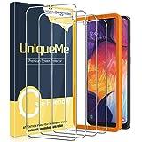 UniqueMe [4 Pack] Protector de Pantalla Compatible con Samsung Galaxy A50 / Samsung Galaxy M31, Vidrio Templado [9H Dureza] HD Film Sin Burbujas Anti-Arañazos Cristal Templado