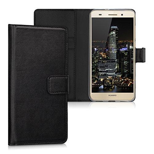 kwmobile Custodia Compatibile con Huawei Y6 II Custodia Portafoglio - Cover a Libro in Simil Pelle - Flip Case con Porta Carte
