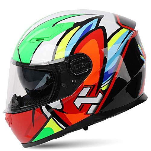 QAZX Casco modular de cara completa para hombres y mujeres, para motocicleta, anticolisión, con certificación DOT/ECE, XL