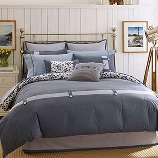 Welspun Nautica Laurel Bay Twin Comforter Set, Blue