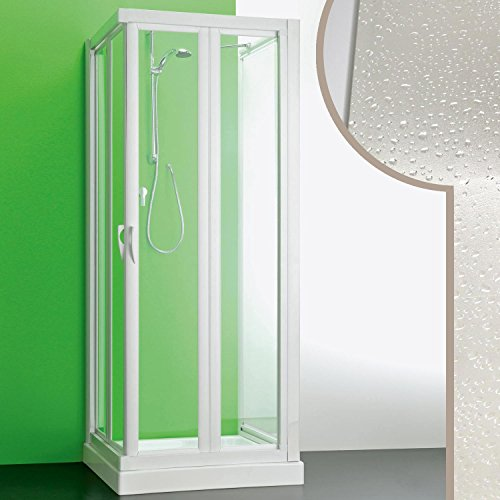 Cabine douche 3 côtés 90x90x90 CMen acrylique mod. Giove avec ouverture plian