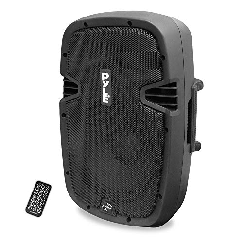 Powered Active PA System Loudspeaker Bluetooth w/ Microphone 8-Inch Bass Subwoofer Stage Speaker Monitor Built-in USB for MP3 Amplifier DJ Party Portable Sound Equipment Stereo Amp Sub Pyle PPHP837UB