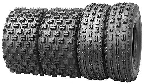 Set of 4 WANDA Sport ATV Tires 21x7-10 Front & 20x10-9 Rear /4PR GNCC racing tires- 10075/10081